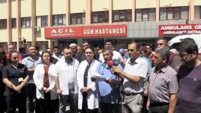 hastane - Doktorlardan şiddete tepki - GAZİANTEP