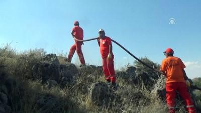 Erozyon sahasında yangın - KONYA