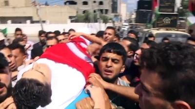 cenaze - Filistinli şehidin naaşının üzerine Türk bayrağı örtüldü - GAZZE