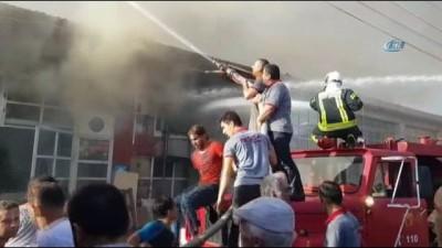 yangina mudahale -  Karabük Bağ Essan Sanayi Sitesi'nde büyük yangın