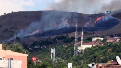 aniz yangini -  Karabük'te korkutan anız yangını