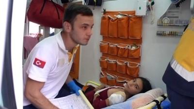 korkuluk - Koluna demir parmaklık saplanan çocuk kurtarıldı - KIRIKKALE