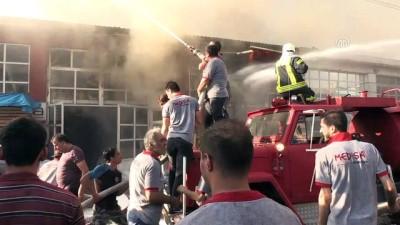 Mobilya atölyesinde yangın (4) - KARABÜK