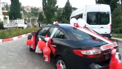 Başkan Koca'nın makam aracı, down sendromlu genç için sünnet arabası oldu