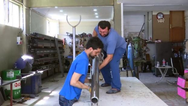 yurt disi - Demir ustası, dev silahına patent almak istiyor - İSTANBUL