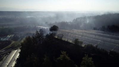 yangina mudahale - Orman yangını havadan görüntülendi - ANTALYA