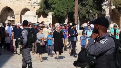 asiri sagci - Yüzlerce fanatik Yahudi'den Mescid-i Aksa'ya baskın - KUDÜS