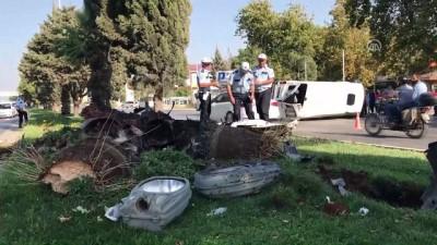 İşçi servisi devrildi: 11 yaralı - KAHRAMANMARAŞ