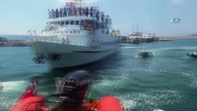Ege Denizi'nde arızalanan Yunan Feribotu 168 yolcusuyla birlikte kurtarıldı