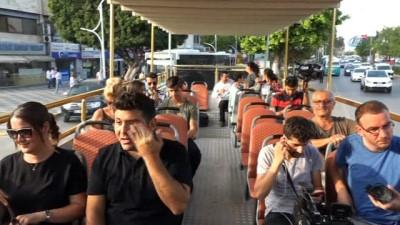 Mersin sahillerinde 'üstü açık otobüs' seferleri başladı