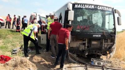 Otobüs kaza yaptı: 1 ölü, 23 yaralı - ANKARA