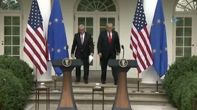 ABD Başkanı Trump Avrupa Komisyonu Başkanı Juncker'i ağırladı