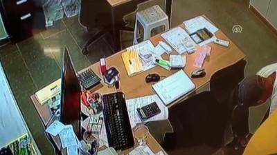 akaryakit istasyonu - İş yerinden hırsızlık güvenlik kamerasında - ANTALYA