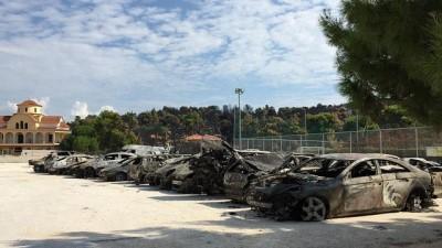 Yunanistan yangını: Anadolu Rumları'na sığınak olan mahalleler kül oldu