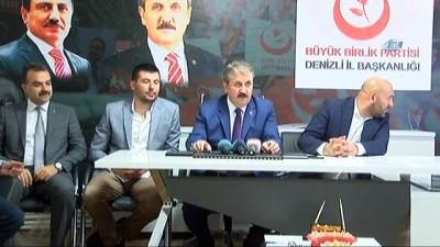 """BBP Partisi Genel Başkanı Destici: """"Başka bir ülkenin başkanı, başkan yardımcısı bu konuda Türkiye'yi tehdit edemez"""""""
