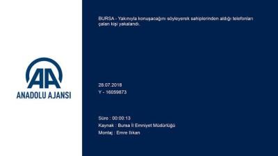 Bursa'da 'konuşma bahanesiyle' telefon hırsızlığı