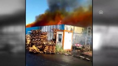 Başkentte kereste fabrikasında yangın (2) - ANKARA
