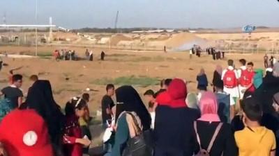 - Filistinli kadınlar Gazze sınırında