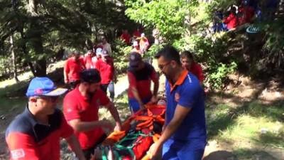 Kahramanmaraş'ta yaralı kurtarma tatbikatı