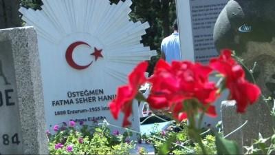 anit mezar -  Kurtuluş Savaşı'nın kahramanı 'Kara Fatma' mezarı başında anıldı