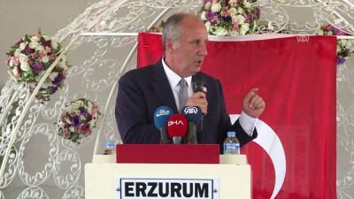Muharrem İnce : 'Yenilmişiz. Aradım kutladım. Önümüzdeki cumhurbaşkanlığı seçiminde Erdoğan da beni arayacak' - ERZURUM