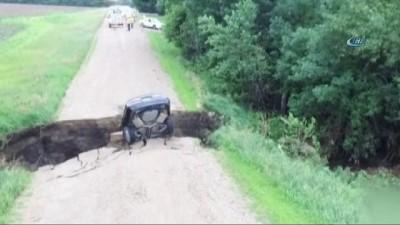 - Arabasıyla Obruğa Düştü, Burnu Bile Kanamadı