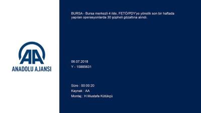 Bursa merkezli FETÖ/PDY operasyonu - 30 şüpheli yakalandı - BURSA