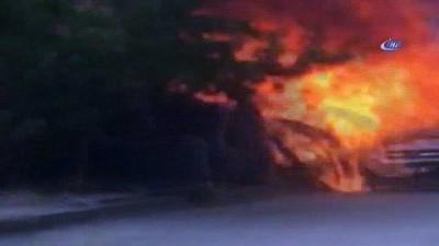 Erzincan'da plastik borulardan çıkan yangın paniğe neden oldu