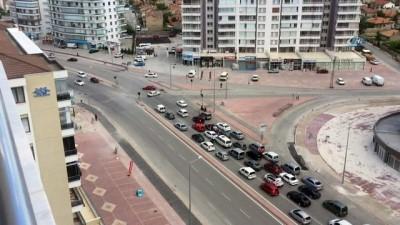 Konya'daki trafik magandaları polisten kaçamadı