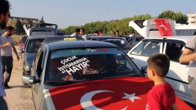 Çocuk istismarı ve kadına yönelik şiddete tepki konvoyu - BURSA