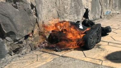 Akıma kapılan işçi yanarak ağır yaralandı