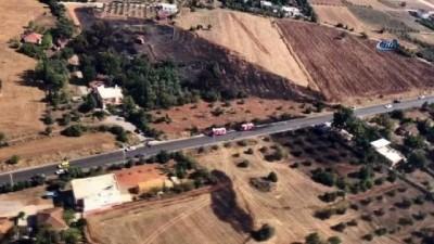 aniz yangini -  Antalya'da arazi yangını
