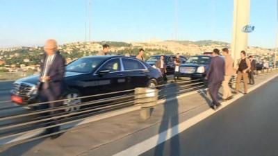 makam araci -  Köprüdeki intihar teşebbüsünü Başbakan Yıldırım önledi
