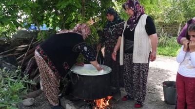 Köylü kadınlar 'çeçil peyniri' üretimine başladı - KARS