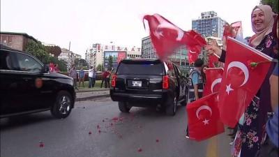 Cumhurbaşkanı Erdoğan, TBMM'ye gelişinde gül ve karanfillerle karşılandı - ANKARA