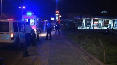 akaryakit istasyonu -  Başkent'te trafik kazası: 2 yaralı
