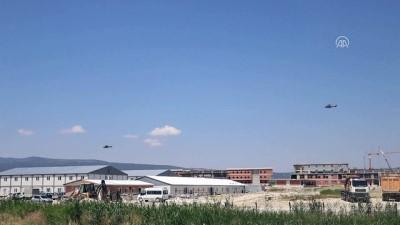 Kara Havacılık Okulunun taşınması - Helikopterlerin bir kısmı Isparta'ya ulaştı