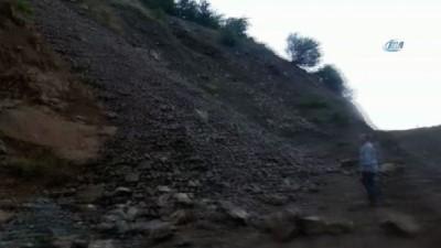 Maden ocağı önünde heyelan: 4 kişi mahsur kaldı