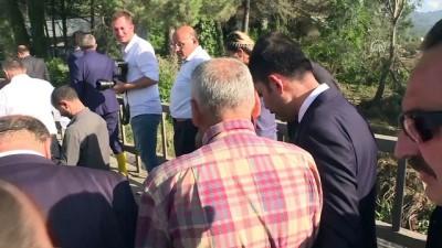 Bakan Kurum, selden zarar gören bölgelerde incelemelerde bulundu - ORDU