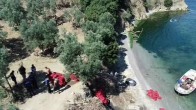 Bursa'da drone ile kaçak midyeciler yakalandı