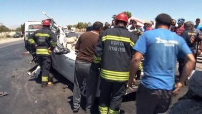 Lüks otomobil tıra ok gibi saplandı: Baba oğul hayatını kaybetti, anne kız ağır yaralandı