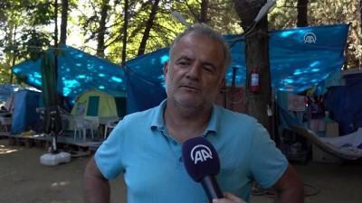 Bayram tatili sahildeki çadır kamplarını da doldurdu - BALIKESİR