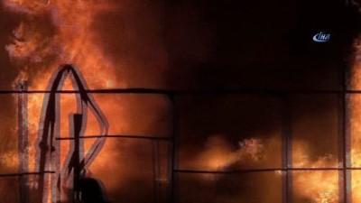 Bursa'da tüp deposunda patlama... Yangın havadan böyle görüntülendi