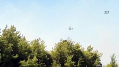 helikopter -  Alanya'da orman yangını