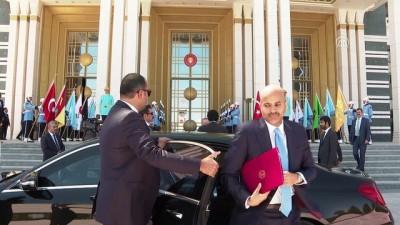 Cumhurbaşkanı Erdoğan, Katar Emiri Şeyh Temim bin Hamed Al Sani ile bir araya geldi - ANKARA