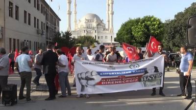 Iğdır'da döviz kurlarının yükselişi protesto edildi