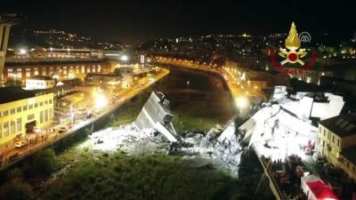 İtalya'da çöken köprü - Arama kurtarma çalışmaları sürüyor (2) - CENOVA