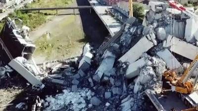 İtalya'da çöken köprü - Havadan görüntüler - CENOVA