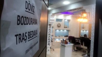 kuafor salonu - Kars'ta dolar bozdurana 'tıraş' bedava
