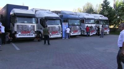 Konya'dan Halep'e un yardımı